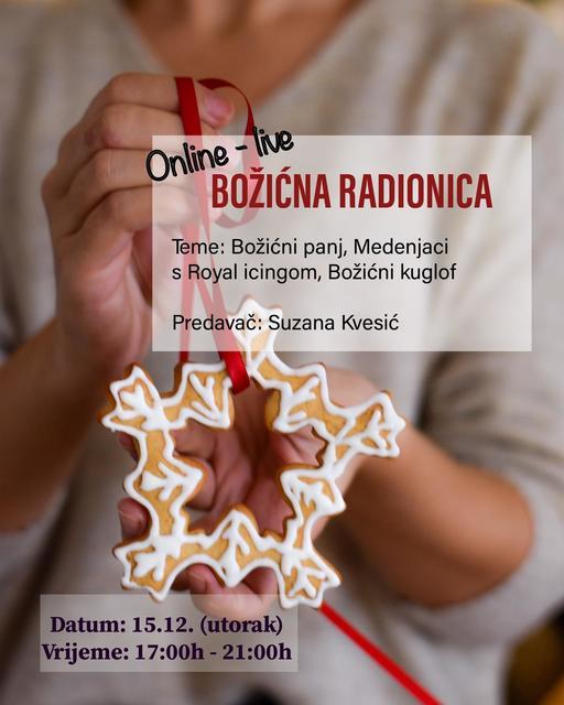 Online live BOŽIĆNA RADIONICA – 15.12.2020.